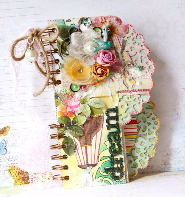 I used Sunday Picnic on my minibook and gave it a tropical look on it:)
