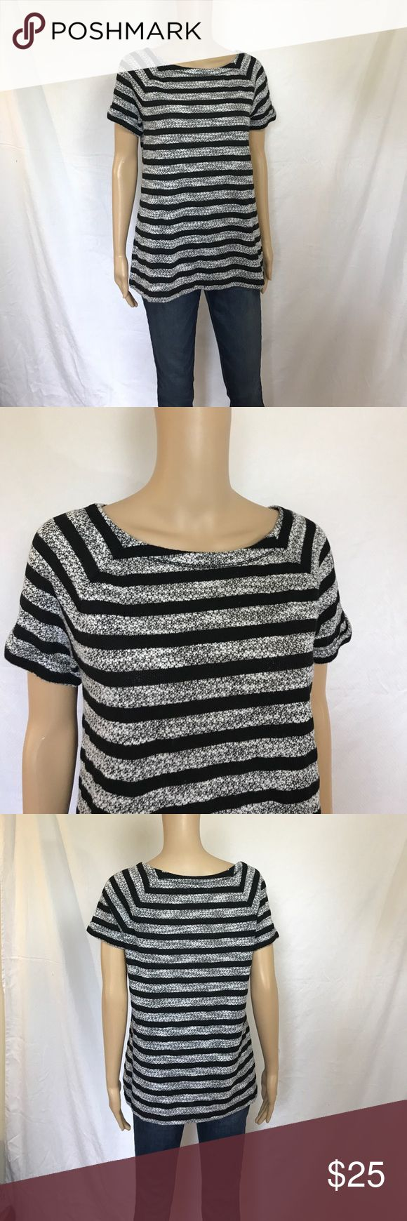Lou & Grey short sleeve top size medium Extremely soft and comfortable! This top is in excellent condition. Size medium it has a 37 inch past and is approximately 26 inches long. Cute little cuffed short sleeves. No holes stains or tears Lou & Grey Tops
