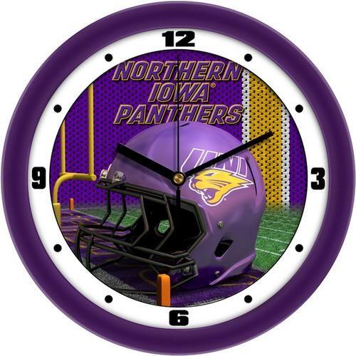 University of Northern Iowa Helmet Wall Clock
