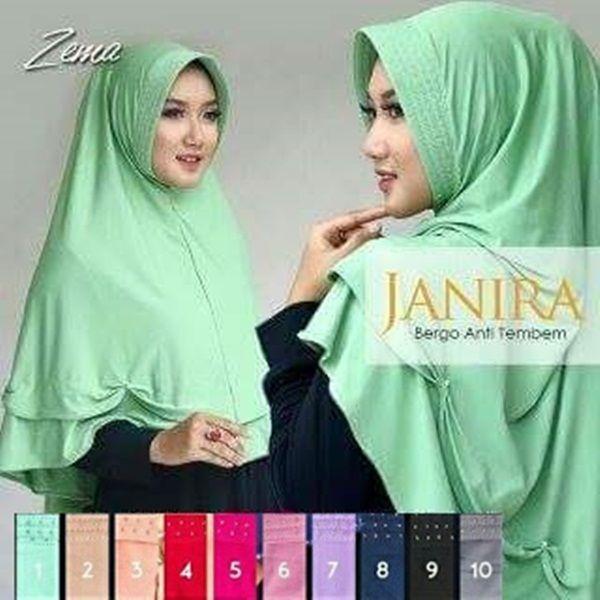 Hijab Instan Bergo Janira Antem Panjang Model 2017 Ket : panjang sesuai gambar (panjang depan dari dagu 46-48 cm, panjang belakang dari ujung pet 96-98 cm