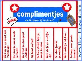 complimentenkaartjes om uit te delen