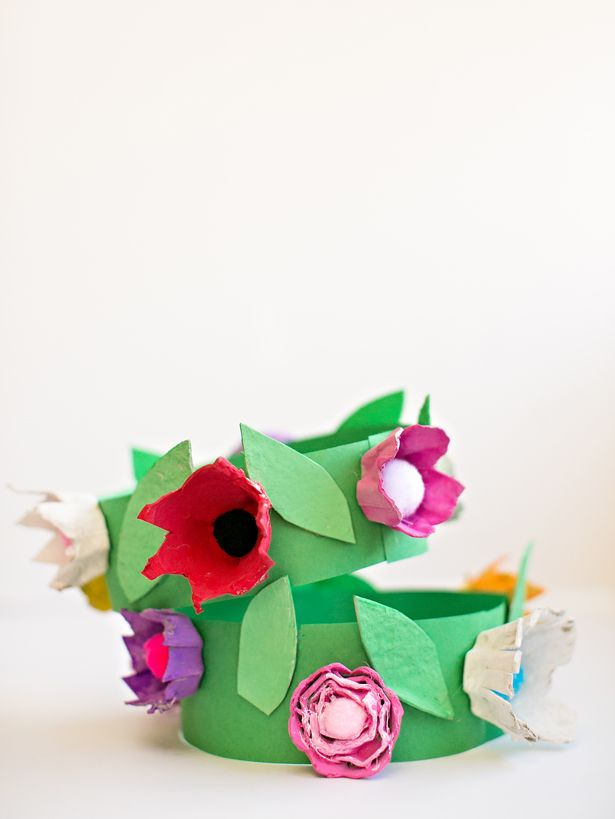 DIY EGG CARTON FLOWER CROWN 1150 best