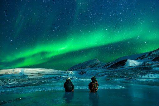 Aurora, Aurora Borealis, Snow