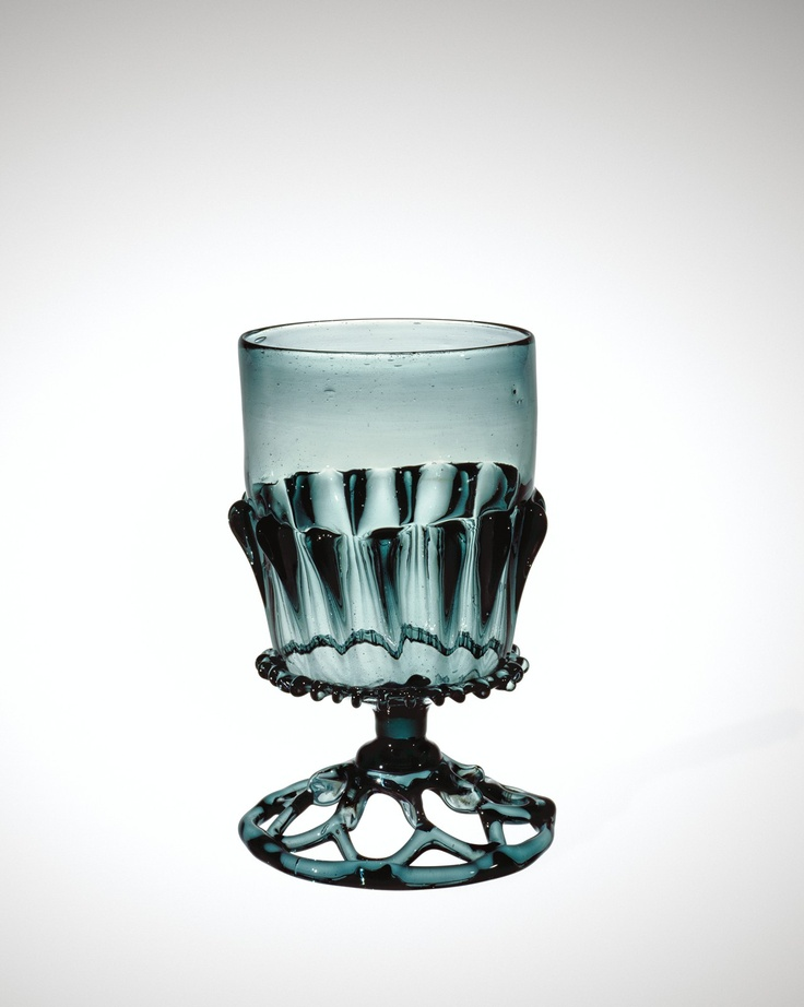 Medieval Glass: Forest Glass Goblet | Corning Museum of Glass The color & style are both exquisite.