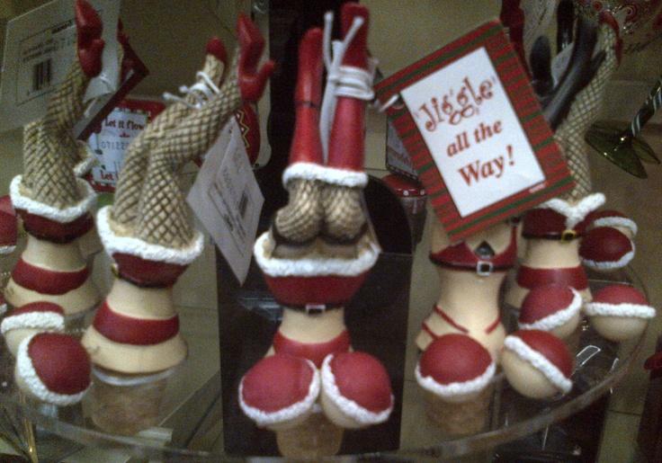 Jiggle All The Way - Christmas Novelty Wine Corks