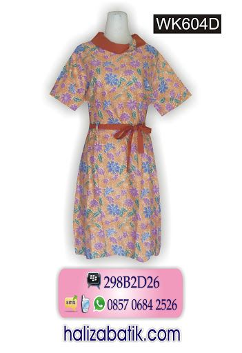Dress batik warna kalem only 100Rb. Order via SMS 085706842526. http://grosirbatik-pekalongan.com