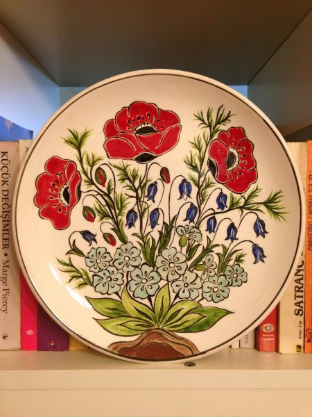 Çini Kır Çiçekleri Tabak
