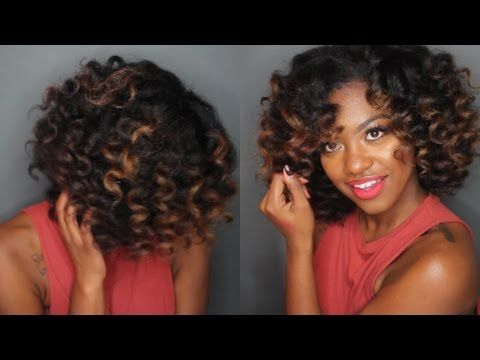 Wand Curls on Natural Hair | LONG LASTING HAIRSTYLE - YouTube