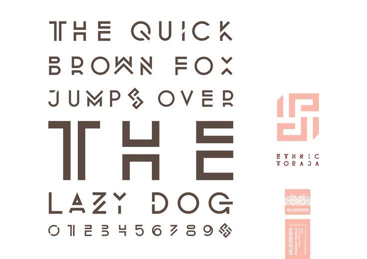 Typeface: Ethnic Toraja