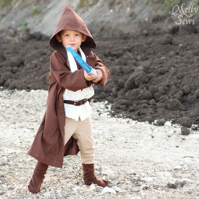 DIY Kids Obi Wan Kenobi Costume - Melly Sews (for Tera's future babies)