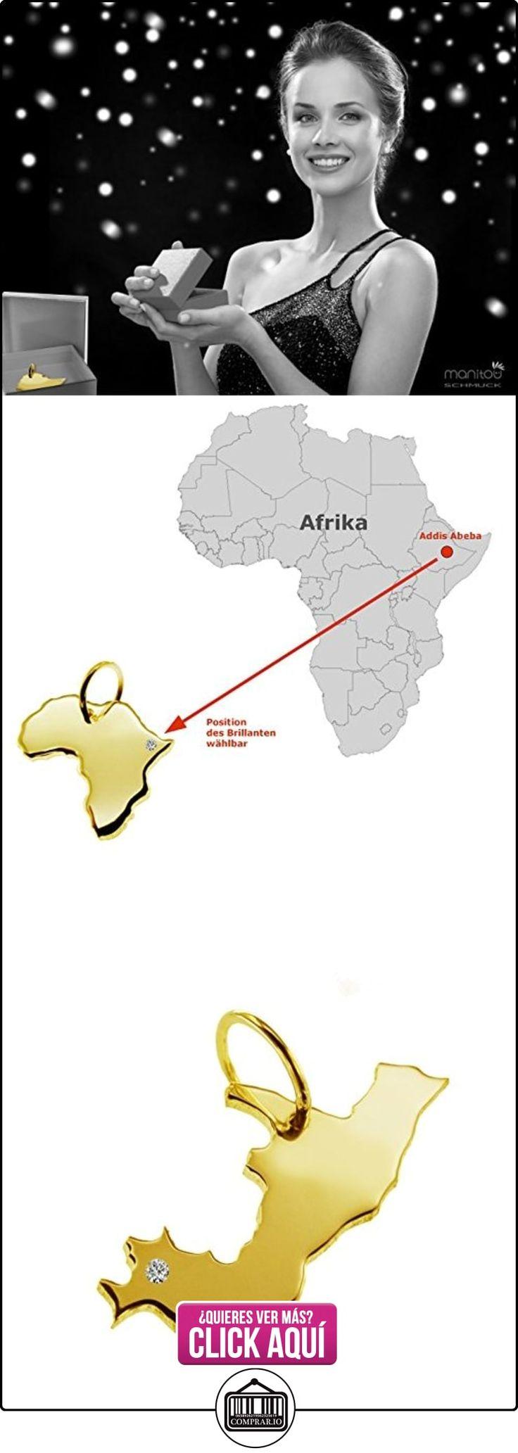 Exclusivo del Congo Mapa Colgante con brillante en su 0,015(Posición a elegir.)–maciza de oro amarillo 585, Deutsche artesanal–585er Oro de joyas  ✿ Joyas para hombres especiales - lujo ✿ ▬► Ver oferta: https://comprar.io/goto/B01N55TFVH