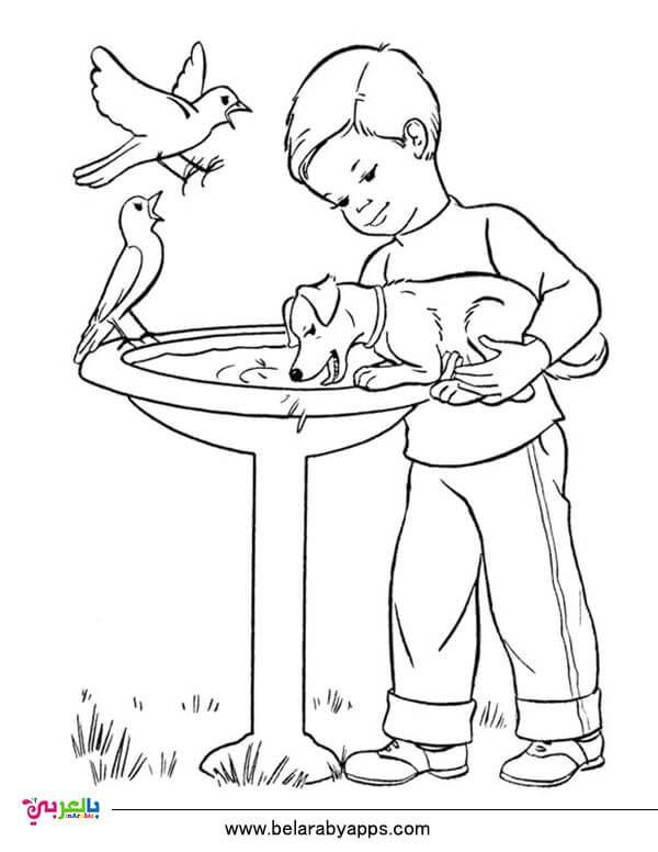 رسومات عن الرفق بالحيوان للتلوين جاهزة للطباعة للاطفال بالعربي نتعلم Puppy Coloring Pages Coloring Pages Cute Coloring Pages