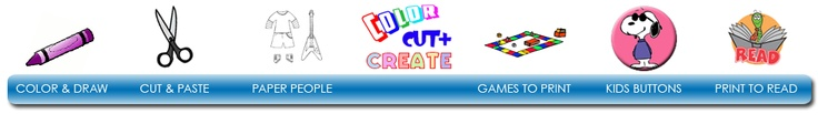 Color & draw, cut & paste, paper people, games to print, print to read....and more!!