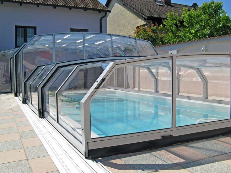 Stříbrné profily bazénového zastřešení COMBI od kvalitní a spolehlivé firmy Alukov a.s.