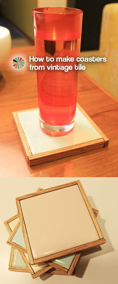 How to make coasters and trivets from vintage tile from the ReStore --- Retro Renovation: Retro Crafty