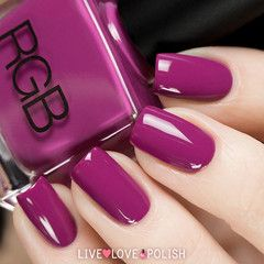 Swatch of RGB Violet Nail Polish (Core Collection)