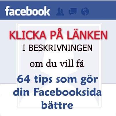 Klicka på bilden eller på länken   http://driva-webshop.se/kurser/facebook-tips   om du vill få Facebook Tips