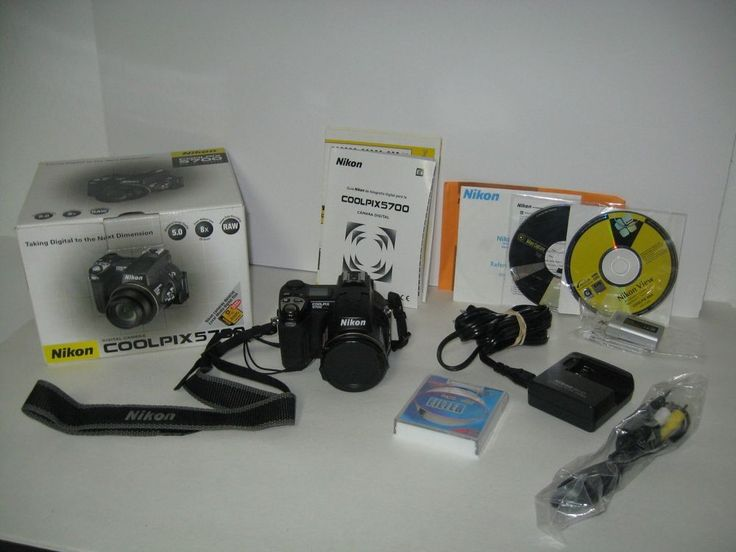 Nikon COOLPIX 5700 5.0 MP Digital Camera - Black + Accessories & original box  #Nikon