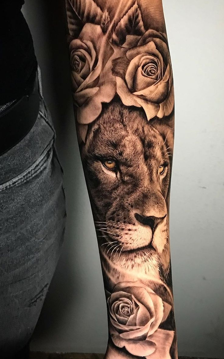 Girls Sleeve Tattoos In 2020 Lion Tattoo Sleeves Lion Tattoo Forearm Tattoo Women