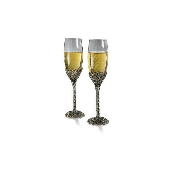Set of Two West Egg Champagne Flutes (€144) ❤ liked on Polyvore featuring home, kitchen & dining and drinkware