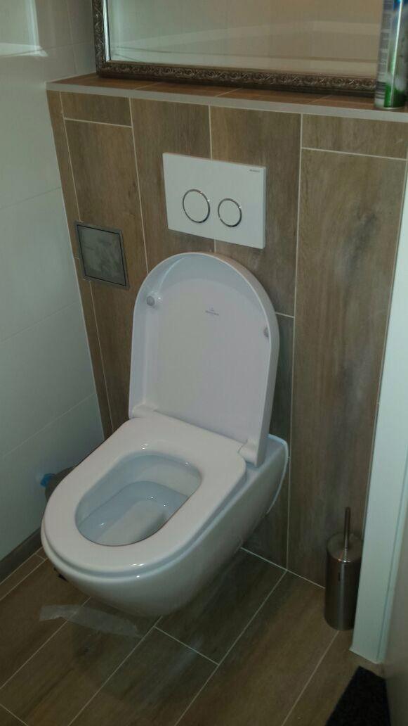 Houtlook tegels tegen de wand van het toilet vanaf 37 50 per m2 tegels outlet pinterest toilet - Toilet tegel ...