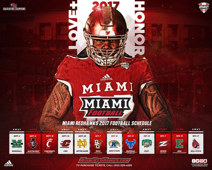 2017 Miami Football - Schedule Release on Behance