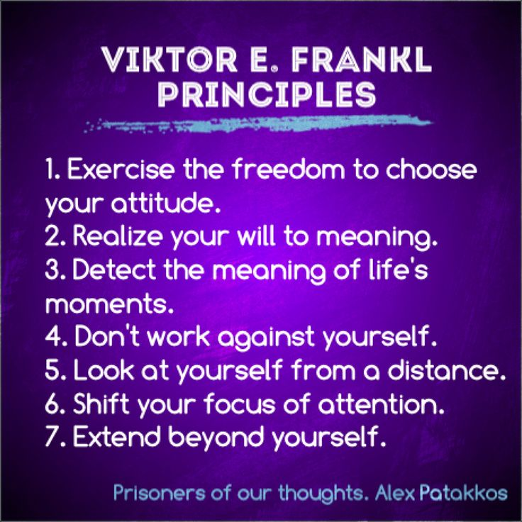 7 core principles of Viktor Frankl's work for bringing personal meaning and fulfillment to your everyday life and work.
