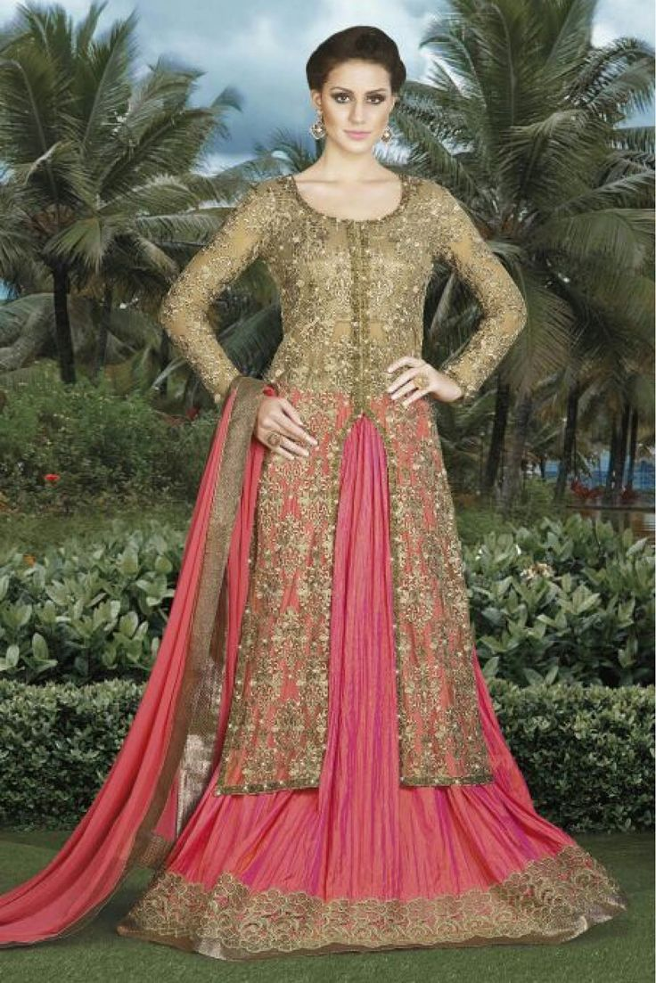 Beige Colour Brocade Fabric Party Wear Lehenga Suit Comes with Matching Dupatta and bottom fabric This Lehenga Suit Is crafted with Embroidery This Lehenga Suit Comes As a Semi stitched Which Can Be S...