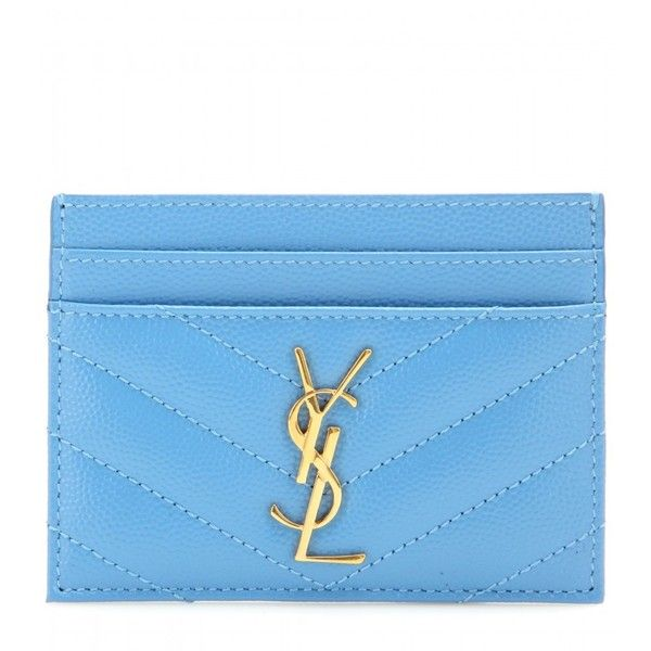 Saint Laurent Monogram Quilted Leather Card Holder ($190) ? liked ...