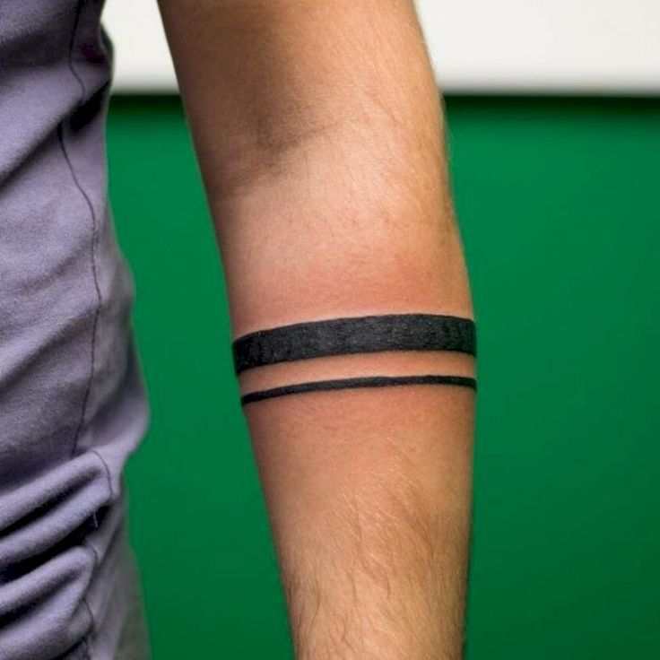 45 Black Band Tattoo Design for Men You Can Try