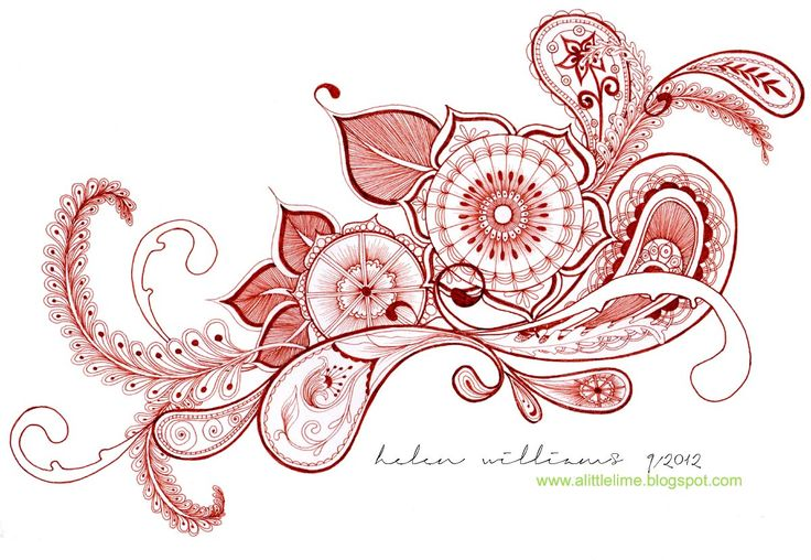 a little lime: paisley flowers