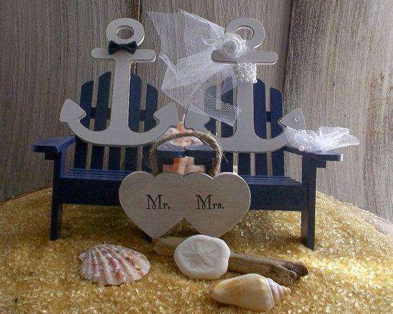 Topper de la torta náutica - Topper de la torta de anclaje tarta Marina, pastel de cumpleaños de playa, playa tema, pastel de boda costera,  La novia y el novio Anclas son un símbolo de muchas cosas. Este dulce de la torta puede ser para una boda... gracias por su servicio de la Marina! O tal vez ambos son en bote así que su boda el náutico día jamás! La lista es interminable... una boda, una boda de tema de playa, una boda costera...  Los dos anclajes representan la novia y el novio…