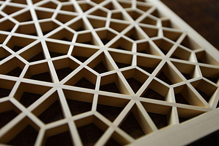 Tsumiishi-kikko Kumiko Japanese lattice