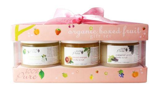 Organic Boxed Fruit Body Scrub Gift Set