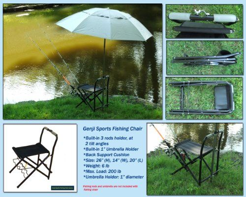 Fishing Chair with 3 Fishing Rods Holder  //Price: $ & FREE Shipping //     #sports #sport #active #fit #football #soccer #basketball #ball #gametime   #fun #game #games #crowd #fans #play #playing #player #field #green #grass #score   #goal #action #kick #throw #pass #win #winning