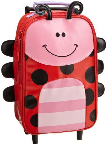 Stephen Joseph Little Girls'  Little Girls'  Rolling Backpack, Ladybug, One Size