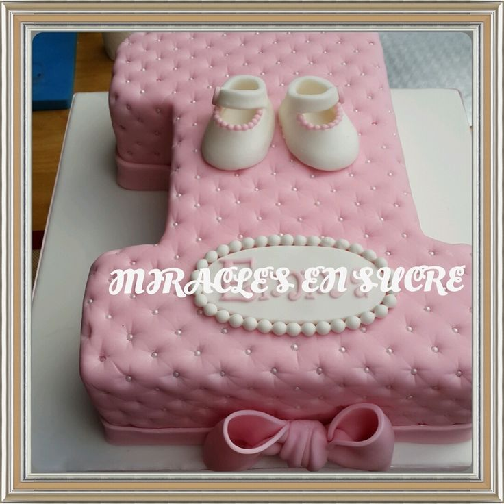 37 best First birthday and christening cakes images on Pinterest