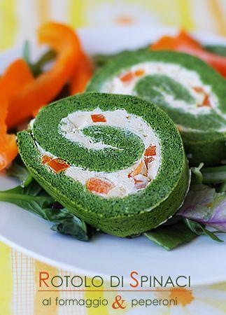 Rotolo di spinaci e formaggio