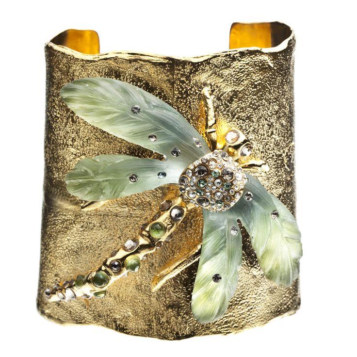 Allegory Gold Dragonfly Cuff::Bracelets::Jewelry::Alexis Bittar