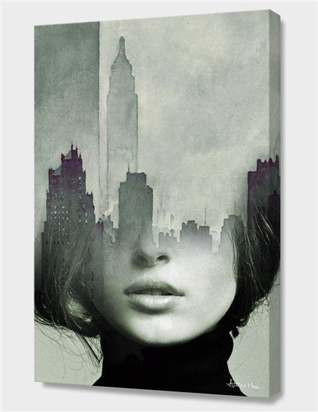 «NY Again» Canvas Print by antonio mora