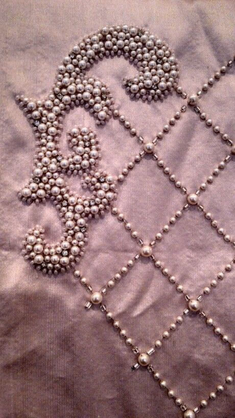 Beadwork with pearl. Besides the work, is there a way to do this without spending a fortune too?