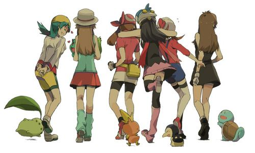 Main Characters of Pokemon games