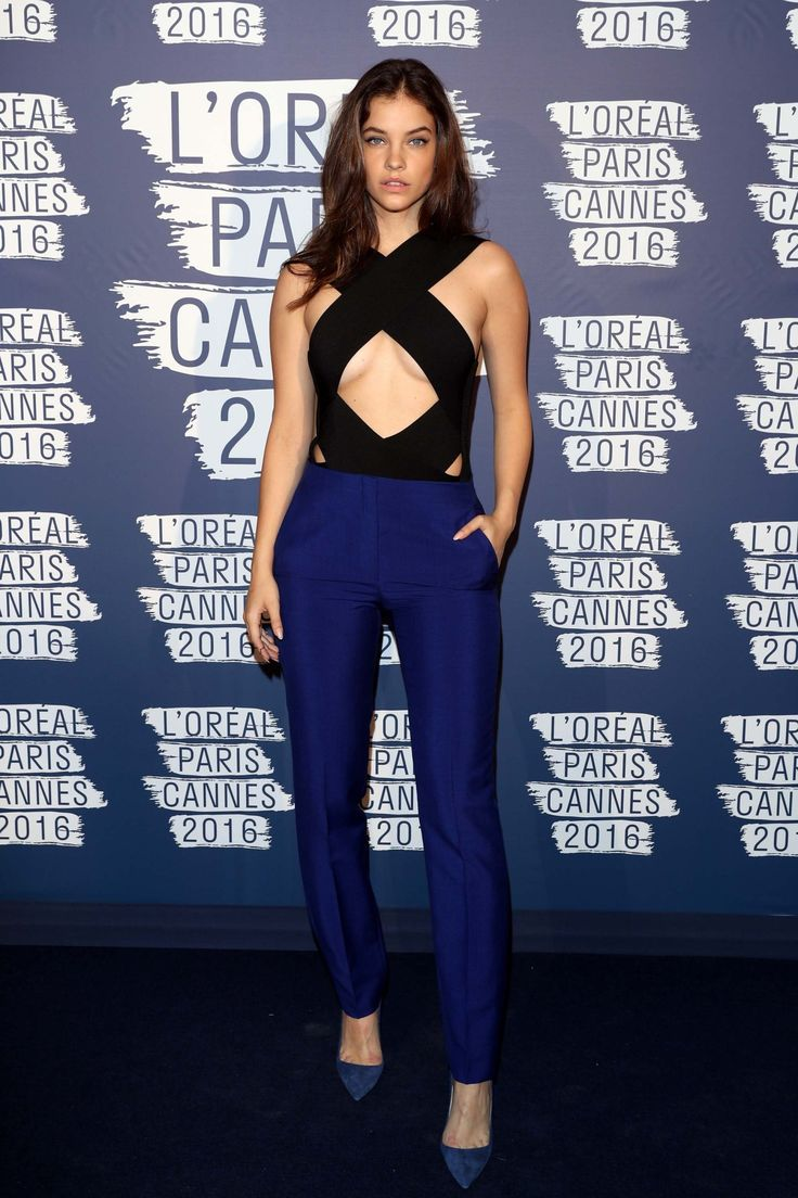 Barbara Palvin at Cannes. Not sure about the top, but the pants are stellar!