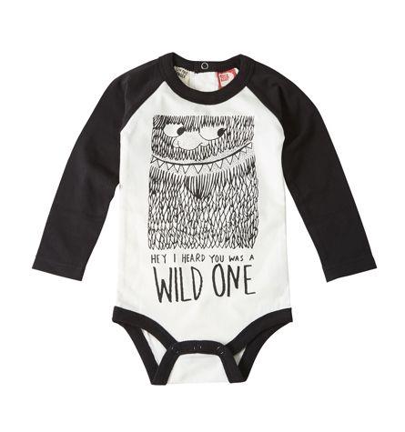 Wild One bodysuit | Rock Your Bay winter 2014 | www.rockyourbaby.com