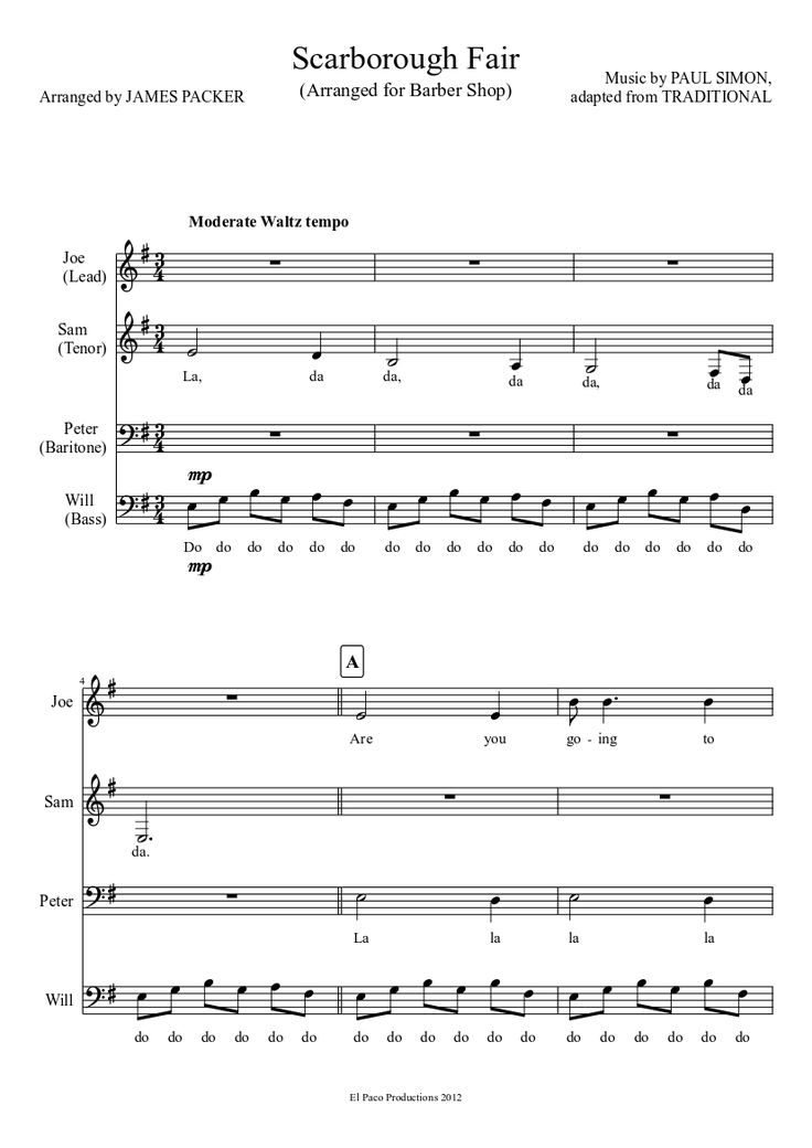 Lyric scarborough fair lyrics and sheet music : 67 best Noten images on Pinterest | Sheet music, Scores and Bass