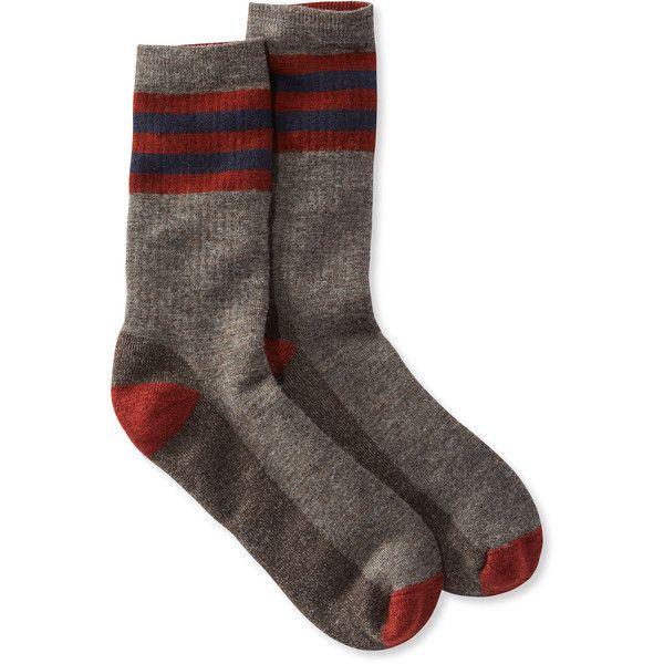 SmartWool Smartwool Hike Medium Crew Socks, Stripe (83 RON) ❤ liked on Polyvore featuring men's fashion, men's clothing, men's socks, smartwool mens socks, mens striped socks and mens merino wool socks