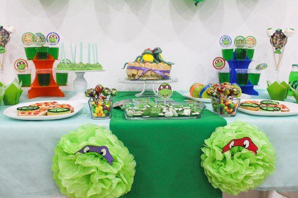 """Candy Bar в стиле """"Черепашки Ниндзя"""" для мальчика Артема, 5 лет   24 фотографии"""
