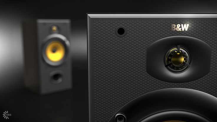 Close up of B&W DM602 S2. Modeled in NX9, rendered in KeyShot.