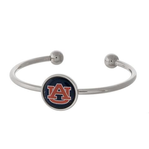 Auburn University Silver Cuff Bracelet Bracelets Gift Suggestions Football accessories Boutique
