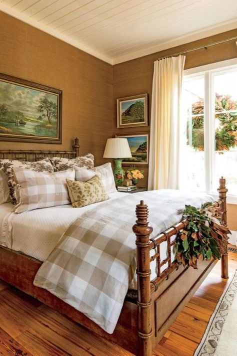 A Georgia Cottage Decorated for Christmas master bedroom